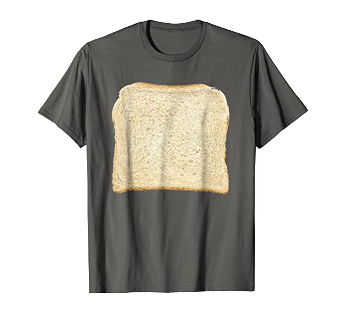 mens bread toast t shirt halloween costume ideas 2xl asphalt