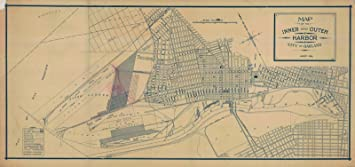 Amazon 1914 city plan historical map of the inner and outer 1914 city plan historical map of the inner and outer harbor city of oakland publicscrutiny Image collections