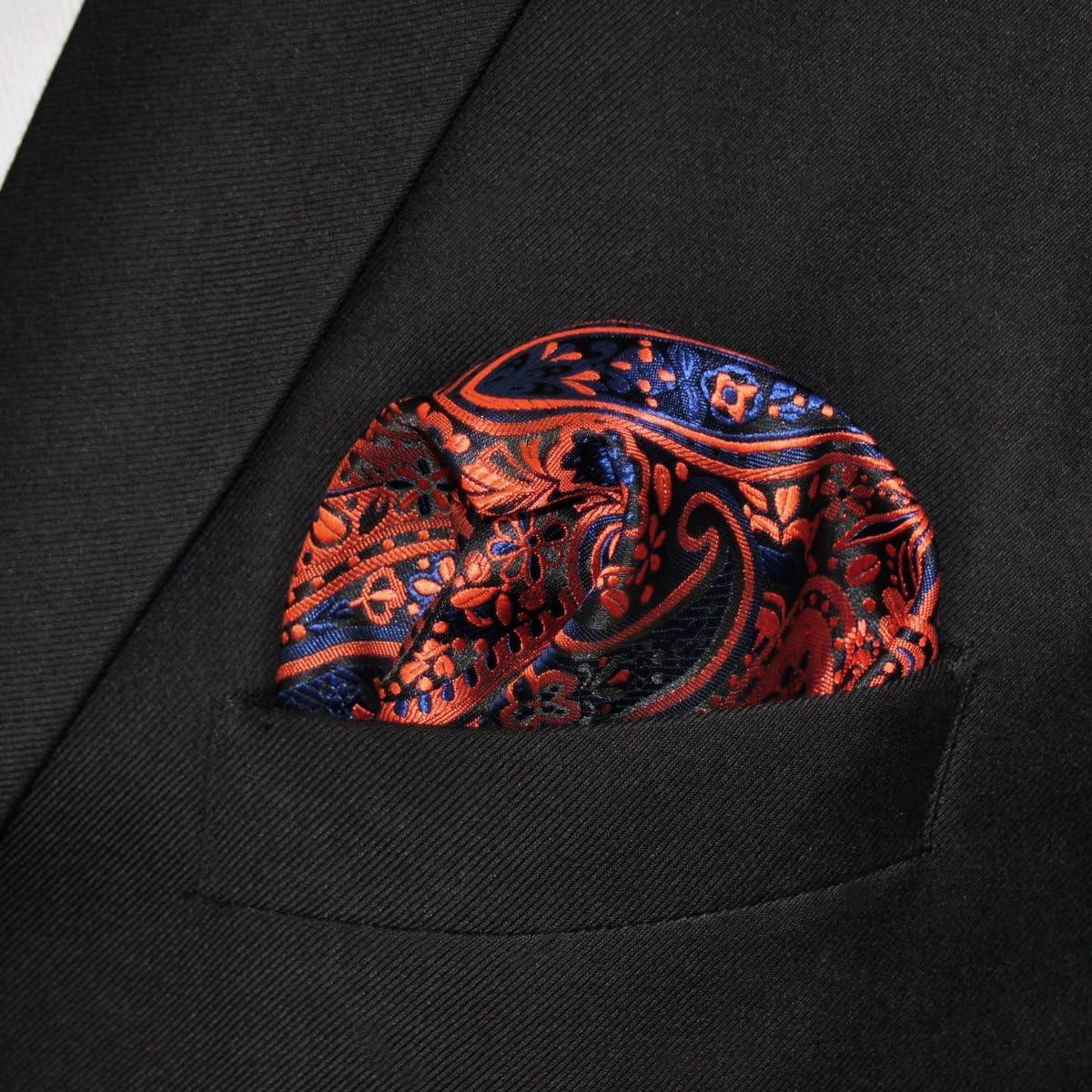 shlax/&wing Hommes Poche de poche Paisley 32cm Orange Bleu
