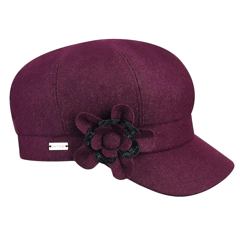 Plum Betmar Hats Lydia Baker Boy Cap
