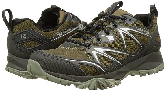 Amazon.com   Merrell Capra Bolt GTX Gore-Tex Waterproof All Terrain Mens Green   Shoes
