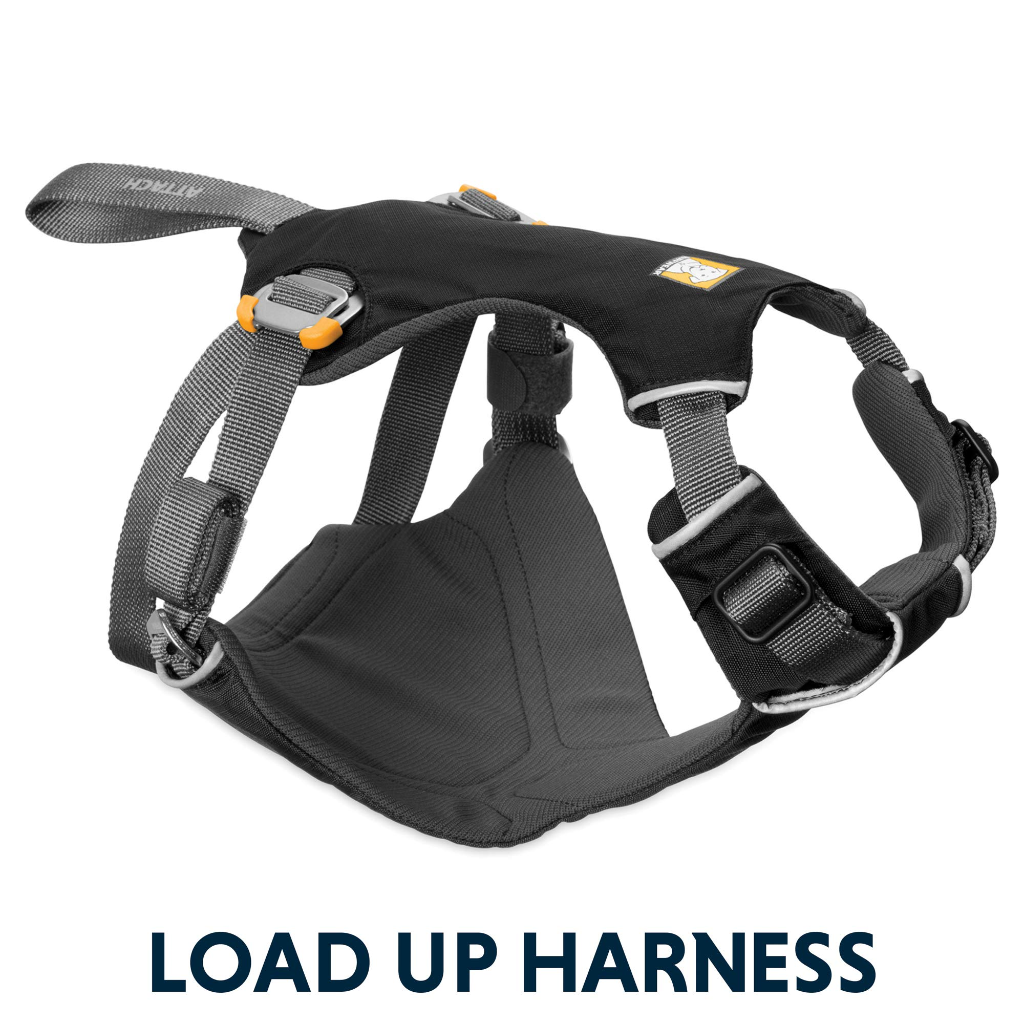 RUFFWEAR - Load Up, Dog Car Harness with Strength-Rated Hardware, Secure Vehicle Restraint, Universal Seat Belt Attachment, Obsidian Black, Medium by RUFFWEAR (Image #10)