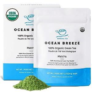 Organic Matcha Green Tea Powder 1.2 oz - Authentic South Korean Origin USDA Organic Non-GMO 100% Pure Hand Picked Vegan Organic Green Tea Korean Food - Superfood
