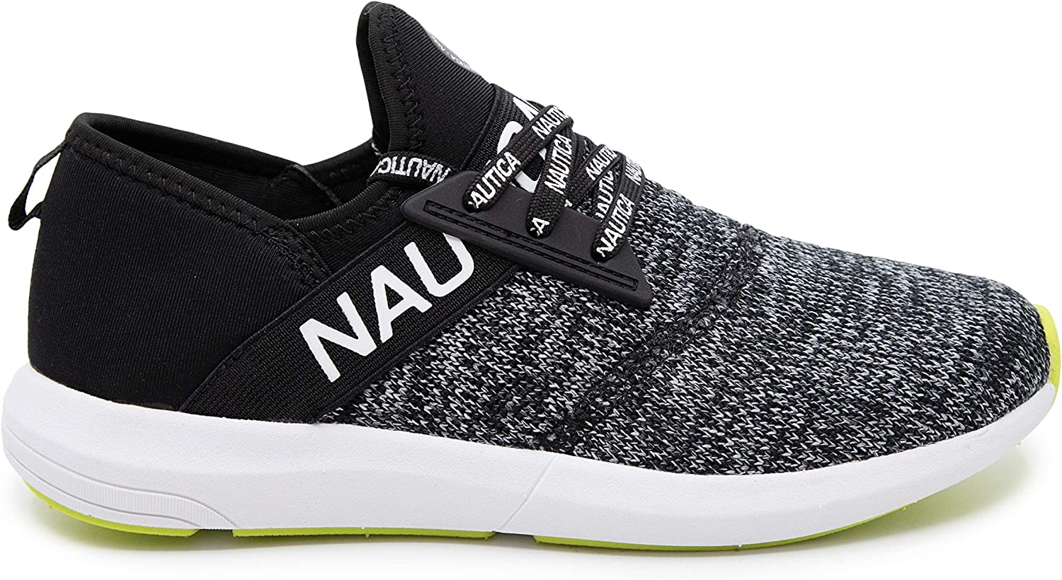 Nautica Women Fashion Sneaker Lace-Up Jogger Running Shoe Casual Walking Sneaker Beela-black