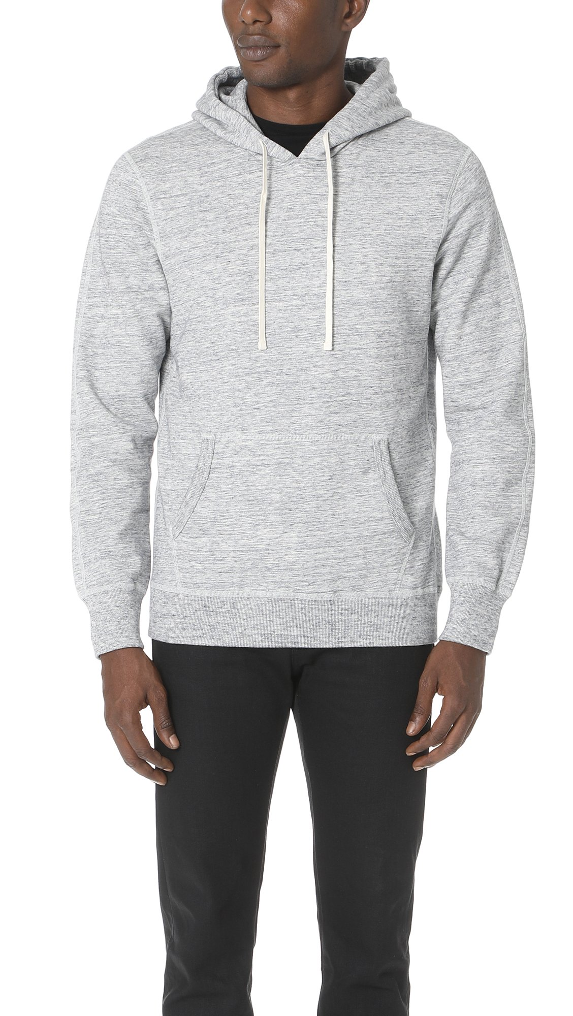 Reigning Champ Men's Mid Weight Pullover Hoodie, Ice, X-Large