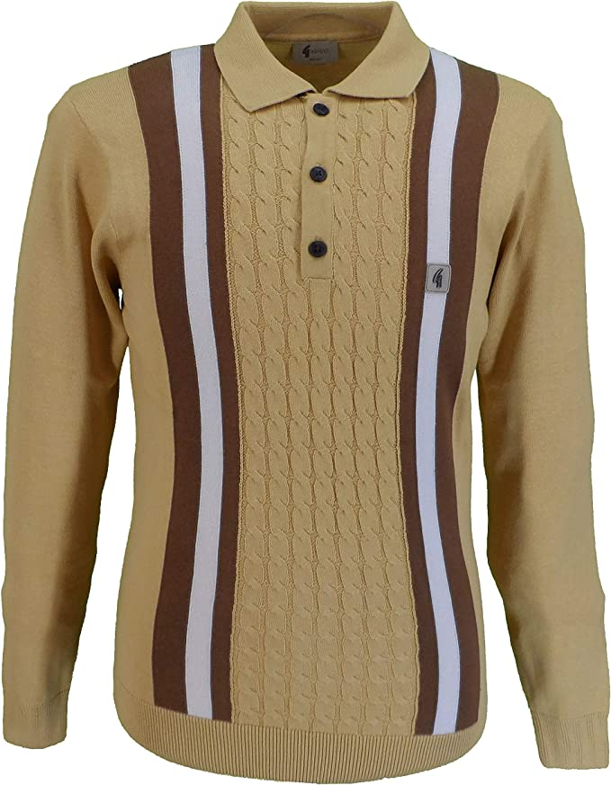 1960s Menswear Outfits | 60s Fashion for Guys Gabicci Vintage Mens Knitted Polo … £69.99 AT vintagedancer.com