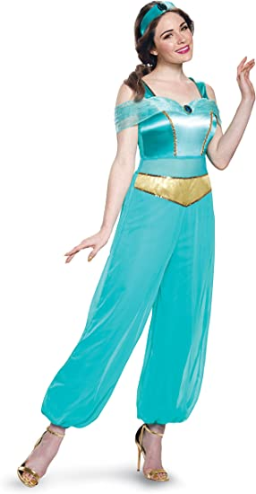 Womens Jasmine Deluxe Fancy dress costume Large: Amazon.es: Ropa ...