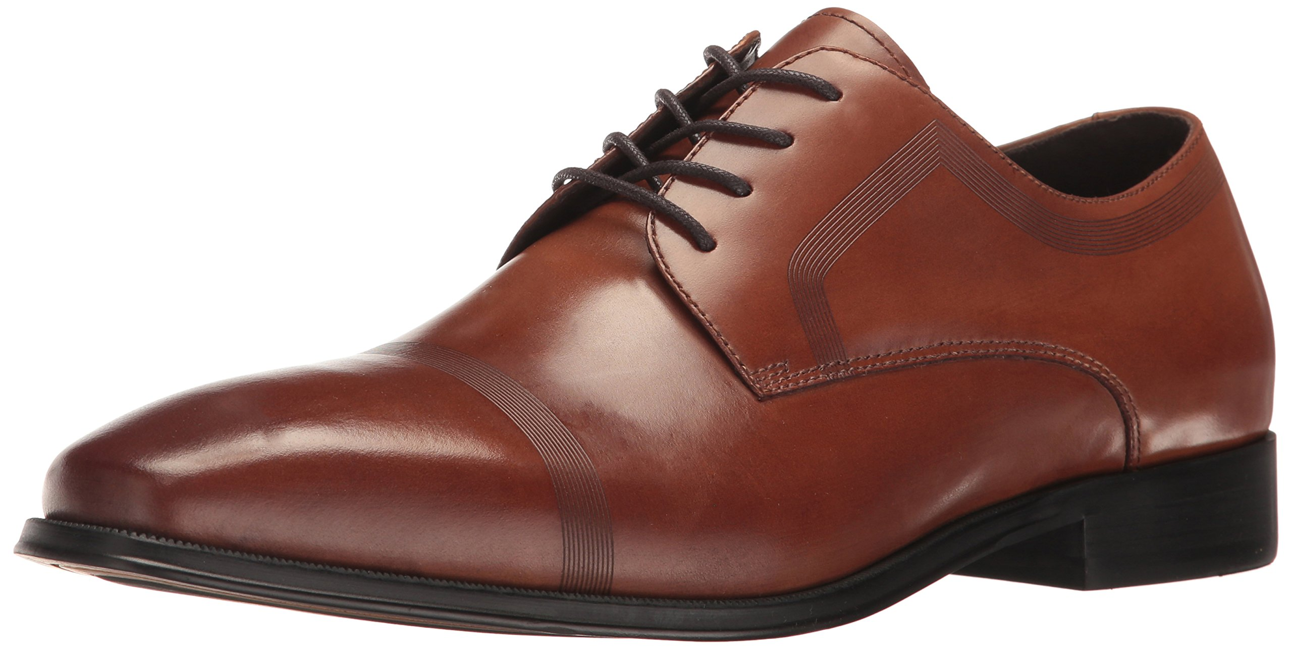 Kenneth Cole REACTION Men's Pure Hearted Oxford, Cognac, 10 M US