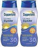 Coppertone ultraGUARD Lotion SPF 30 Sunscreen-8 oz, 2 pack
