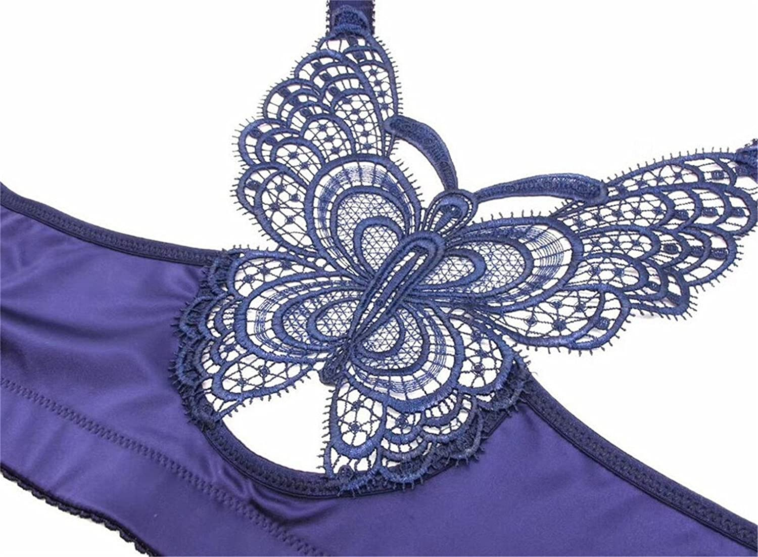 89c220944 Oberora-Women Butterfly Lace Front Closure No Underwire Everyday Bras at  Amazon Women s Clothing store