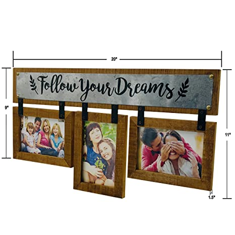 Amazoncom Ouchan 3 Opening 4x6 Wooden Wall Picture Photo Frame