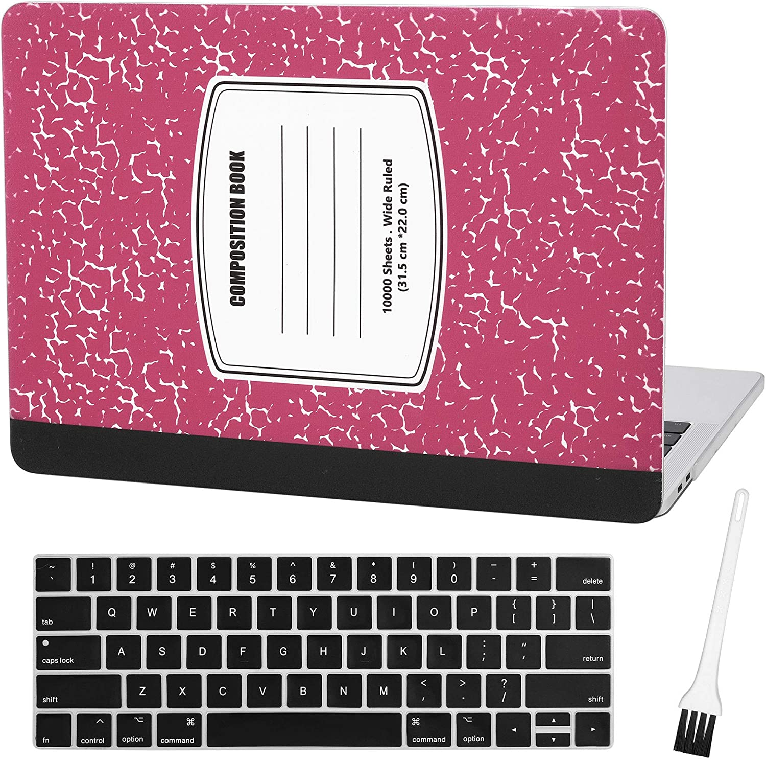 Case Star MacBook Pro 13 Inch Case 2020 2019 2018 2017 2016 Release A1706 A1708 A1989 A2159 Ultra Thin Plastic Hard Sleeve Cover & Keyboard Cover & Anti-dust Brush (Notebook Pattern-Red)