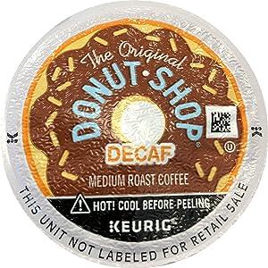 The Original Donut Shop Decaf Keurig Single-Serve K-Cup Pods, Medium Roast Coffee, 18 Count (Packaging May Vary)