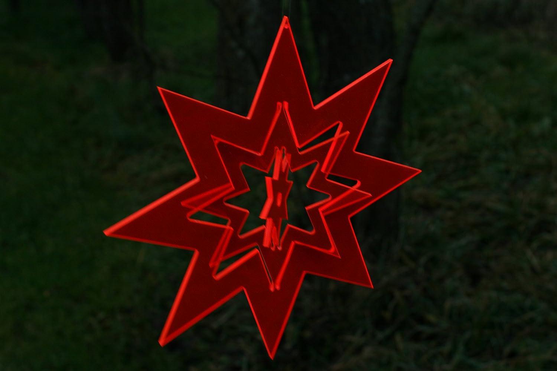 sabro-design Stern /Ø21cm Rot Sonnenf/änger Suncatcher Leuchtstern Weihnachten