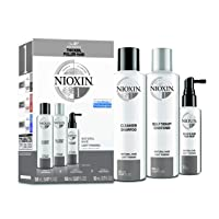 Nioxin System 1 Hair Care Kit for Natural Hair with Light Thinning, 3 Count, Trial Size