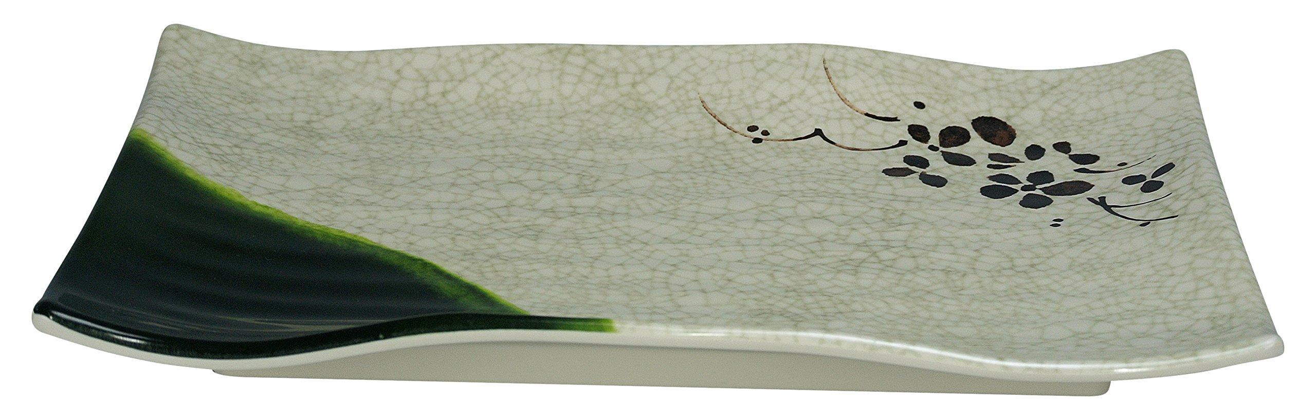 Yanco HO-2416 Honda Ripple Plate, Rectangular, 16'' Length, 5.5'' Width, Melamine, Pack of 12