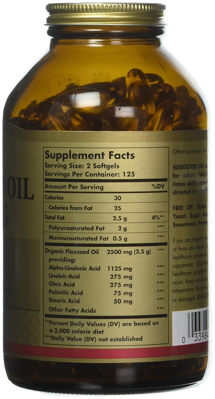 amazon com solgar flaxseed oil 1250 mg 250 softgels health