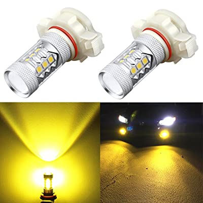 Alla Lighting 5201 5202 LED Fog Light Bulbs Xtreme Super Bright High-Power 3030 SMD Car Truck PS19W 12085 PS24W 9009 DRL Replacement, 3000K Golden Yellow: Automotive