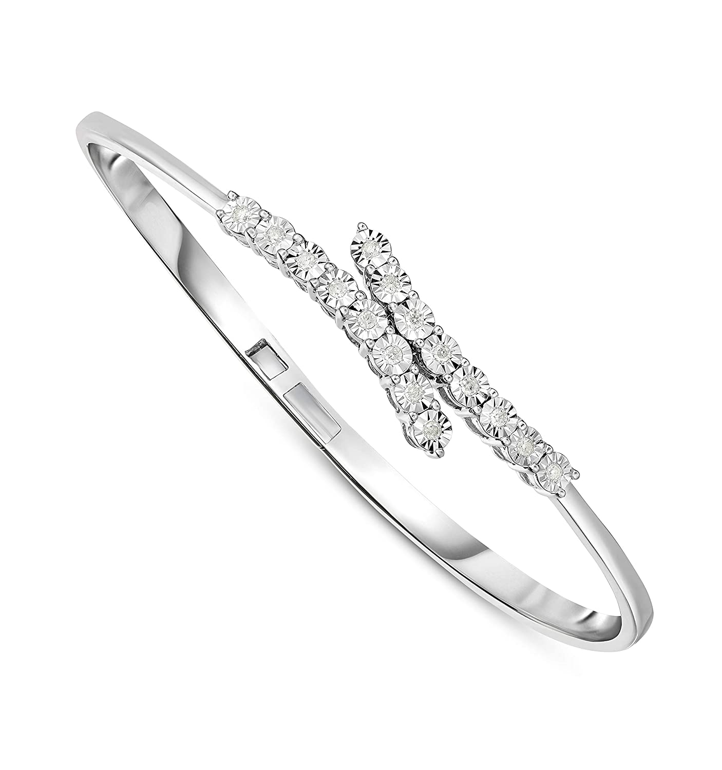 NATALIA DRAKE 1//4Cttw Diamond Open Cuff Expandable Bangle Bracelet