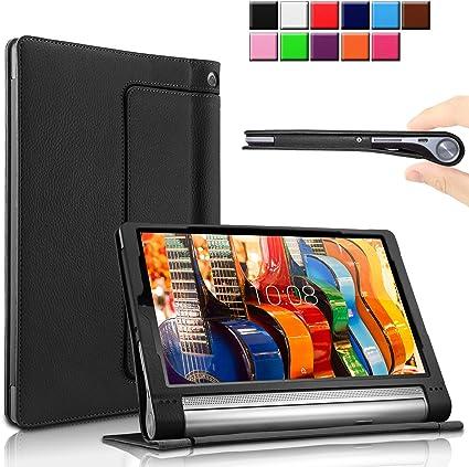 INFILAND Lenovo Yoga Tab 3 10.1-Inch Funda Case, Folio PU Cuero ...