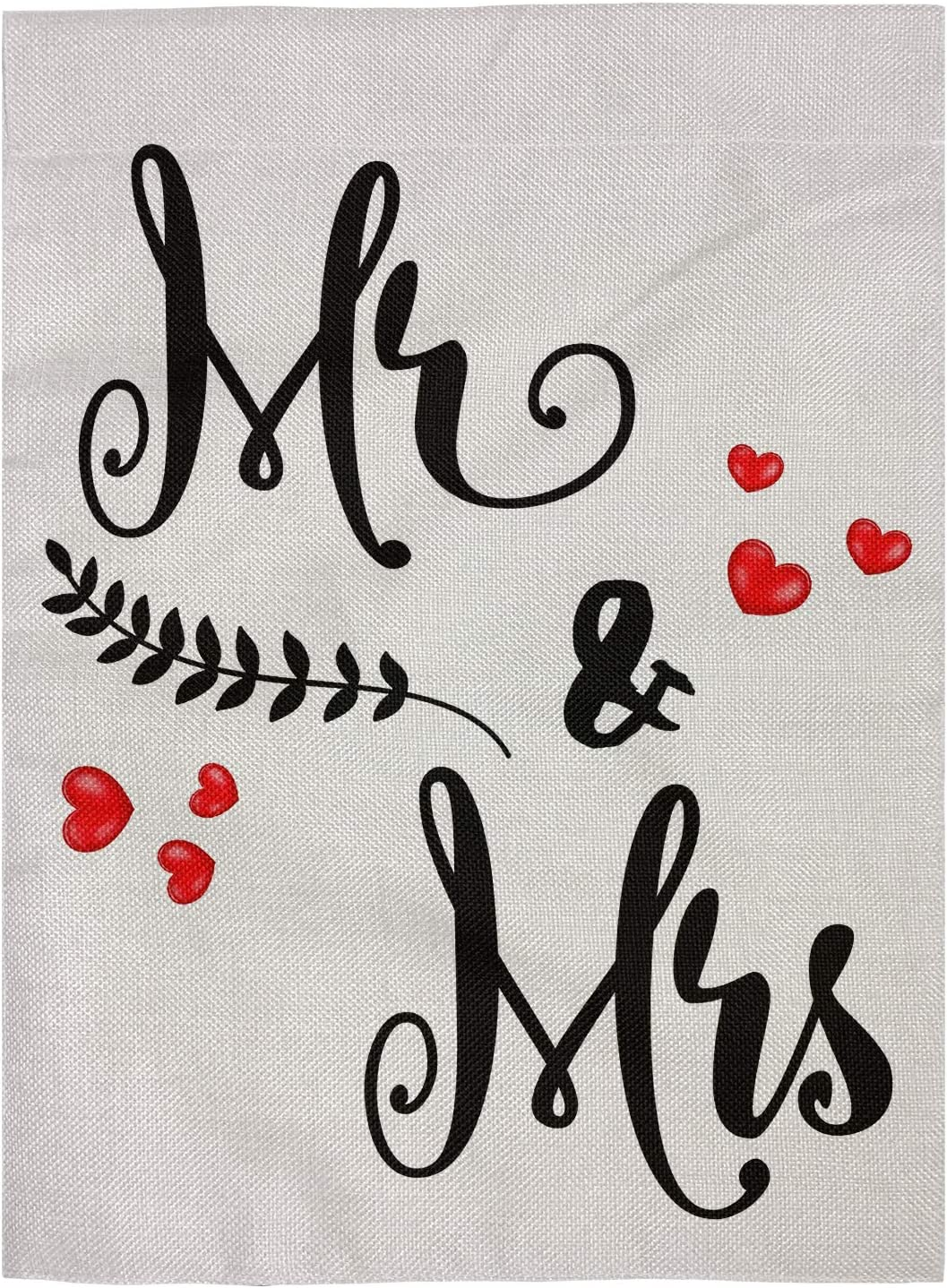 pingpi Mr & Mrs Double Sided Decorative Garden Flags for Outdoors,Best for Party Yard and Home Outdoor Decor 12.5