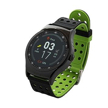 Denver SW de 450 Bluetooth de Deportes de Smart Watch con sensor de frecuencia cardíaca, negro/verde