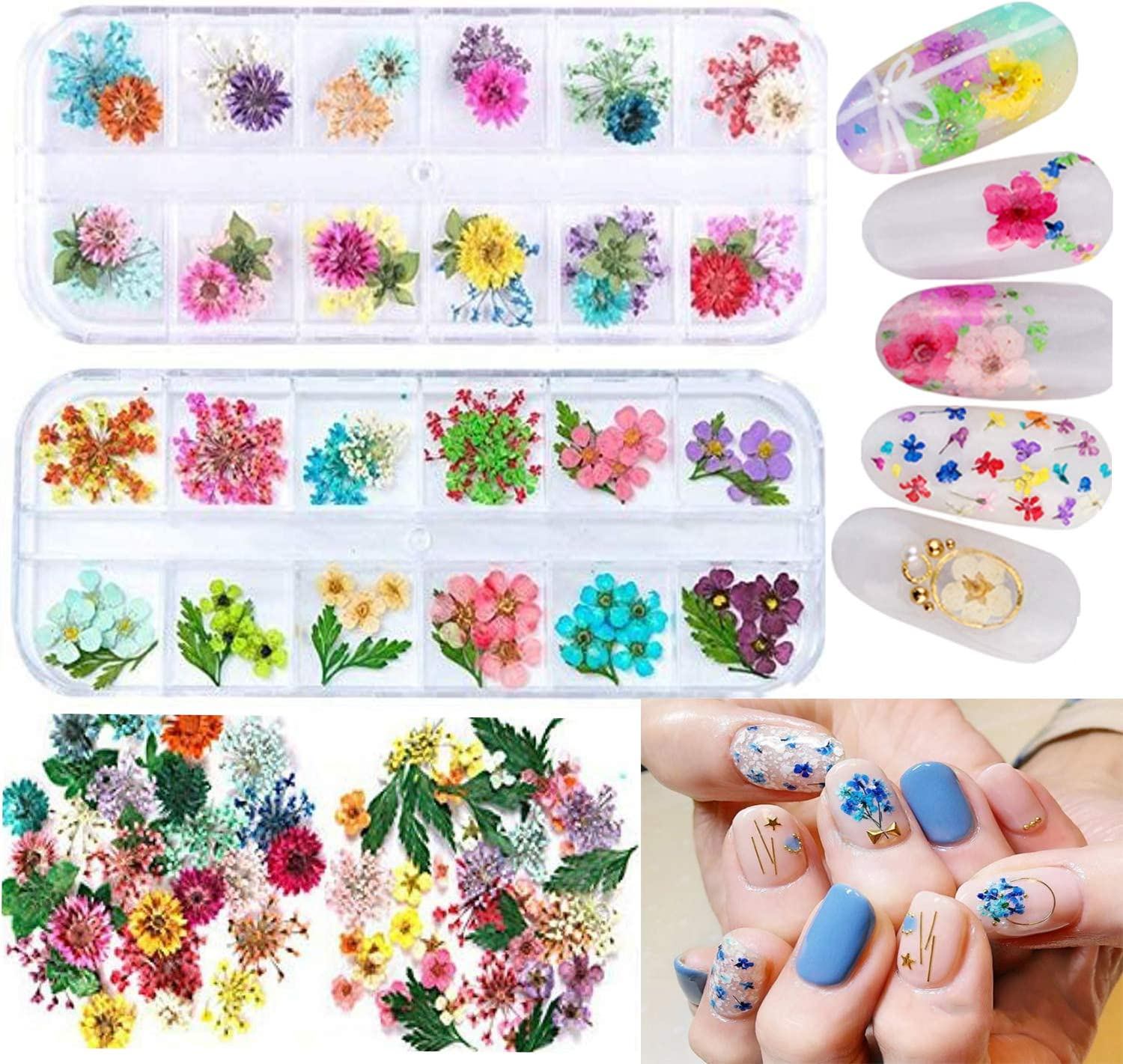 pack of 6 3D Card Flower Stickers