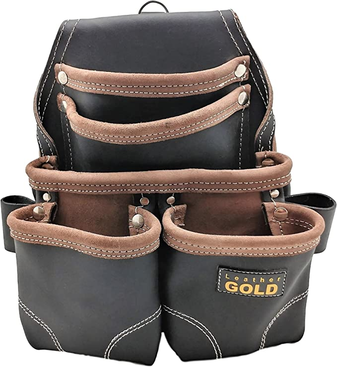 negro cintur/ón para hombres bolsa para herramientas de mano bolsa organizadora de trabajo para martillo multibolsillos Bolsa de herramientas para electricista