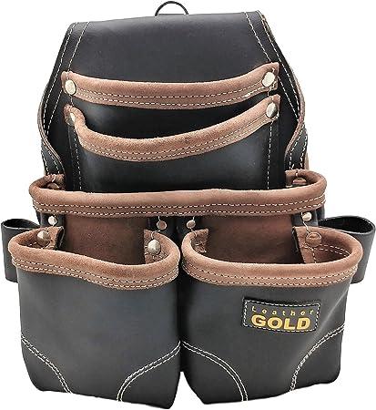 Amazon.com: Funda de piel para uñas, color dorado, bolsa de ...