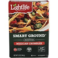 Lightlife Smart Ground Meatless Mexican Crumbles, 12 ounce (2 Pack)