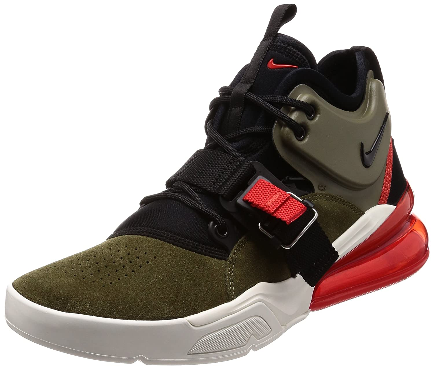 5f3b6880e Amazon.com | Nike Air Force 270 Men's Running Shoes Medium Olive/Black  AH6772-200 (9.5 D(M) US) | Running