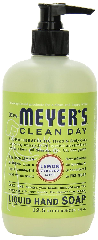 Mrs. Meyer's Clean Day Liquid Hand Soap, Lemon Verbena, 12.5 Fluid Ounce Bottles (Case of 6) by Mrs. Meyer's Clean Day B000E75ES2