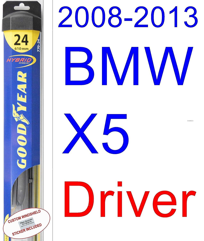Amazon.com: 2008-2013 BMW X5 Replacement Wiper Blade Set/Kit (Set of 2 Blades) (Goodyear Wiper Blades-Hybrid) (2009,2010,2011,2012): Automotive