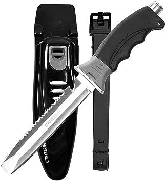 Amazon.com: Cressi Borg, Cuchillo de hoja larga para buceo y ...