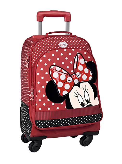 Minnie & You - Mochila trolley con 4 ruedas, 33 x 47 x 21 cm
