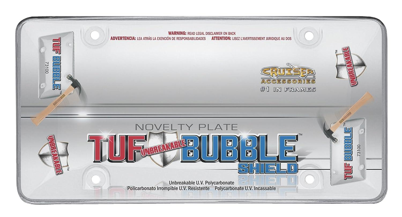 Cruiser Accessories 1 73200 Tuf Bubble License Plate Shield//Cover Smoke