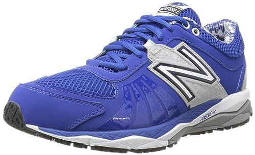 4b3807735 New Balance Men's T1000 Turf Low Baseball Shoe,Blue/Silver,7.5 D US ...