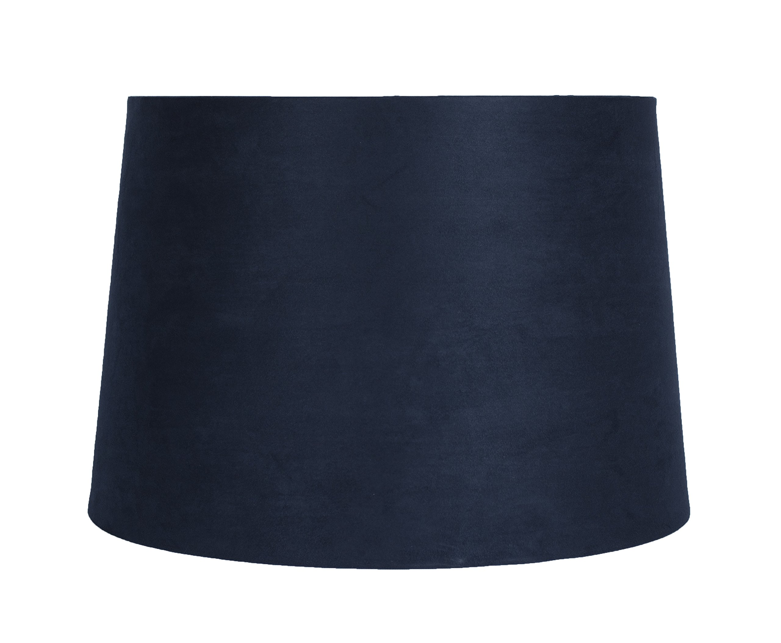 Urbanest French Drum Suede Lampshade, 12-inch by 14-inch by 10-inch, Spider Fitter, Navy Blue