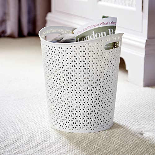 Home Curver My Style White Paper Bin 13 litre capacity, kitchen, office, bed room