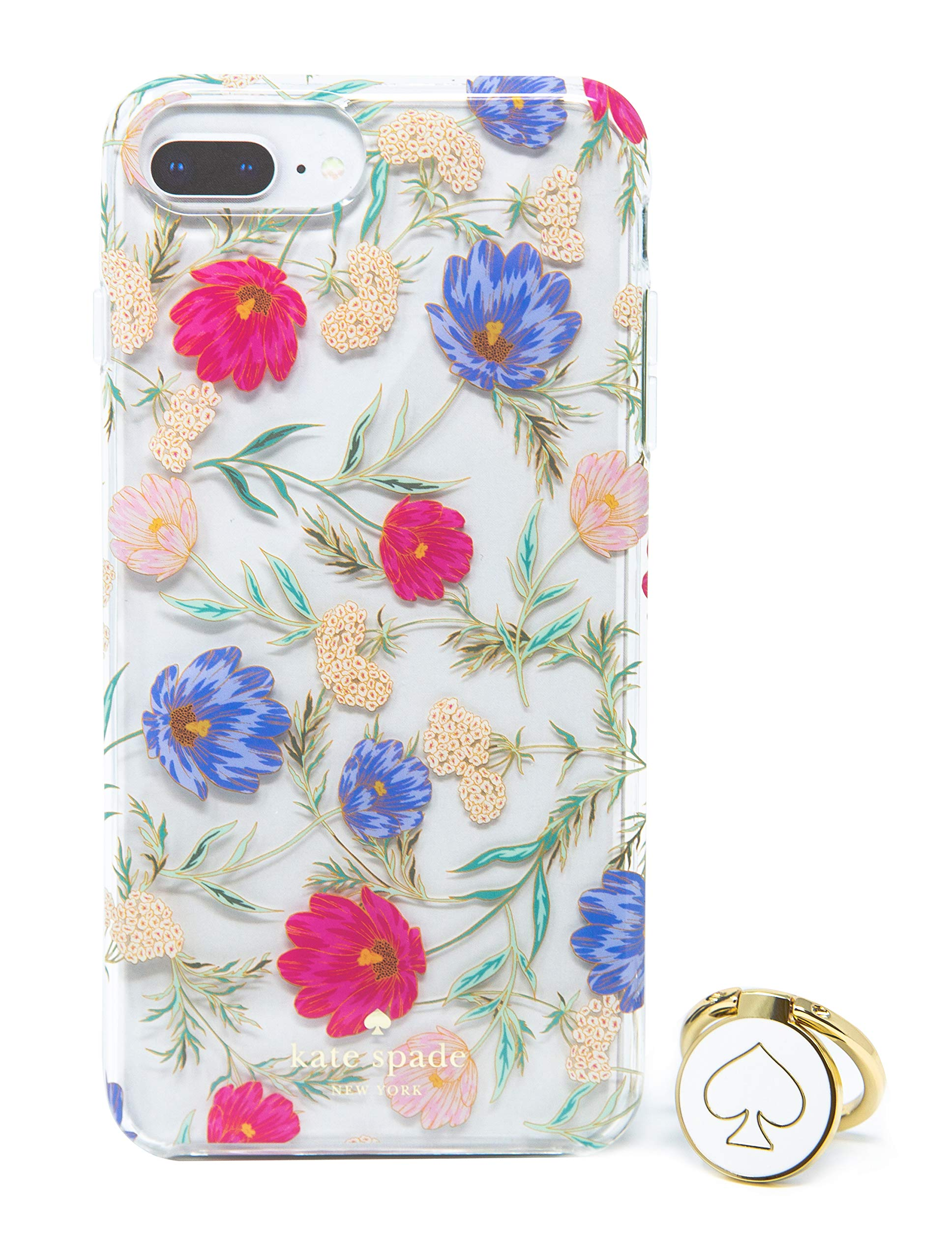 Kate Spade Case & Ring Stand for iPhone 8 Plus/7 Plus/6s Plus - Clear Floral