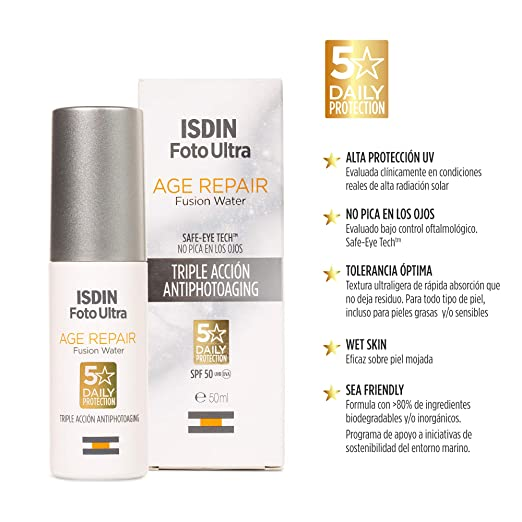 ISDIN FotoUltra Age Repair Fusion Water SPF 50 - Protector solar ...