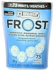ICE BREAKERS FROST Peppermint Mints Bottle, 82g (Pack of 4 * 82g)