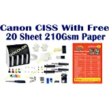 GoColor Empty Continuous Ink Tank Supply System CISS Kit Compatible for Canon Inkjet Printer