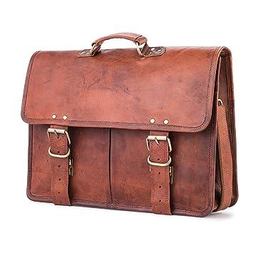 b14c7432d79e5 Berliner Bags Amsterdam Businesstasche Aktentasche Arbeitstasche Bürotasche  Umhängetasche Laptoptasche 17 Ledertasche Vintage Collegetasche Braun  Herren ...