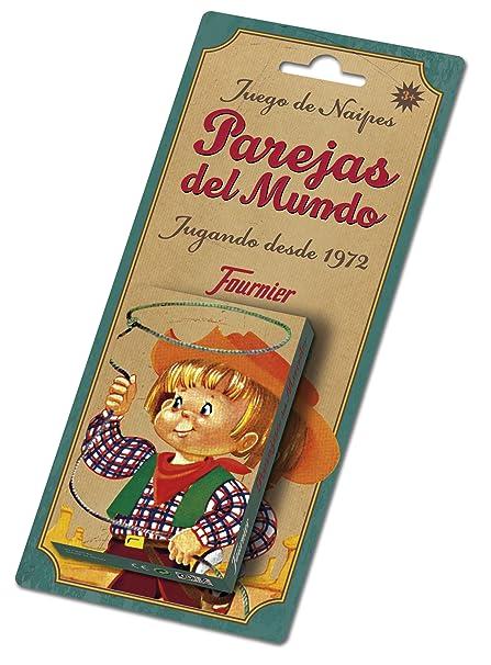 Fournier- Parejas del Mundo Baraja de Cartas Infantil Clásica, (F23803)