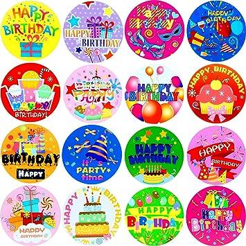 Amazon.com: Zonon - 500 pegatinas de cumpleaños ...