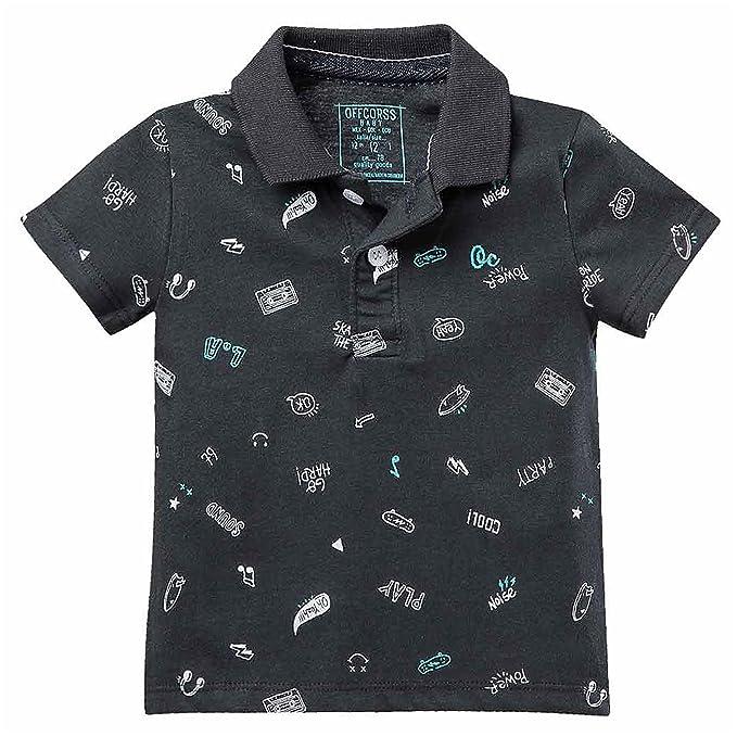 OFFCORSS Cotton Polo Shirts for Toddler Camiseta Polo Camisa para Niño  Green 2T 2aab2126a4b6a