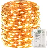 LightsEtc 200 Led String Lights Fairy Lights Battery Operated Waterproof Fairy String Lights with Remote Control Timer 8 Modes 64ft Copper Wire Christmas Lights Christmas Decor Warm White