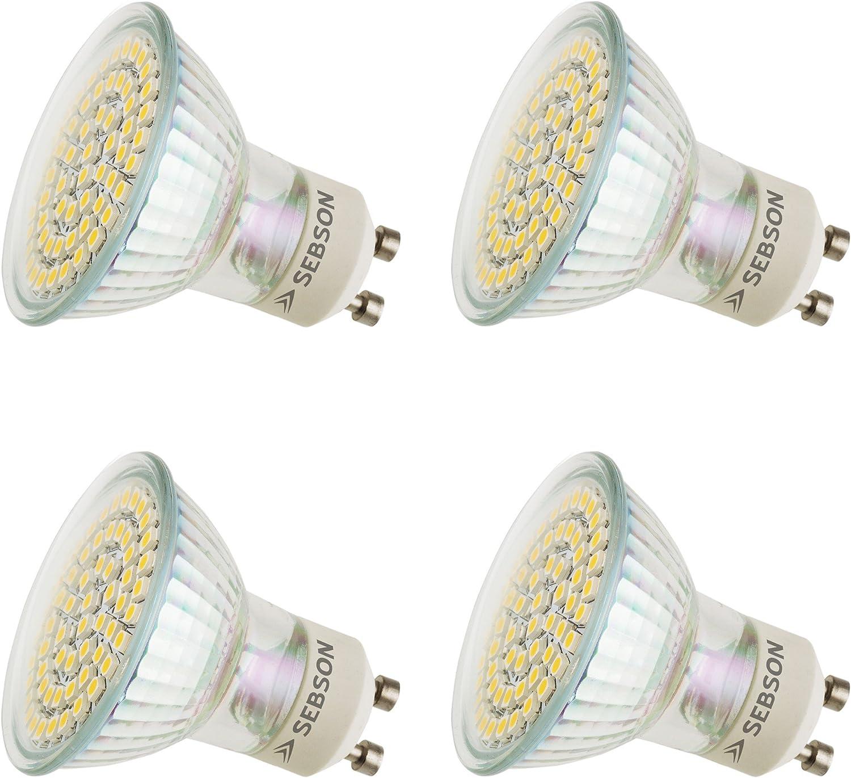 8 St/ück GU10 35 Watt Halogen Reflektor Halogenlampe Warmwei/ß Dimmbar