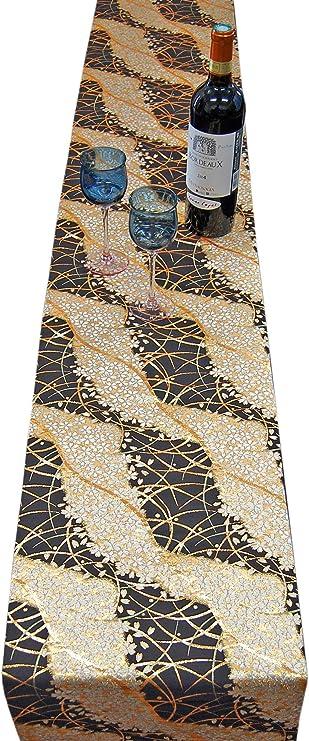Brown kimono  Ougi pattern kimono